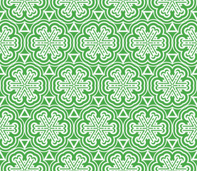 complex geometric ornament. sophisticated geometric pattern based on repetitive simple forms. vector illustration