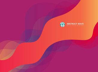 Abstract modern waves overlap on purple background.