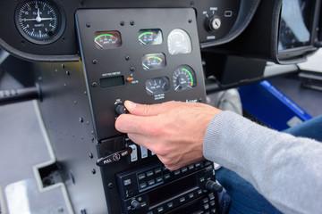Pilot adjusting contols