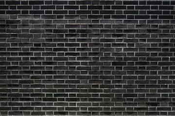 black brick wall texture background