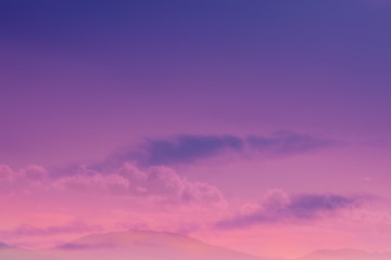 Natural Sunset with  Dramatic Sky and clouds. Colorful Sky at Sunset  or sunrise. Beautiful   Warm Colours,  drama effect..