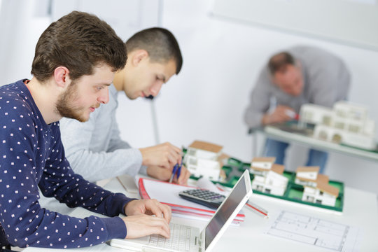 students in architecture training class