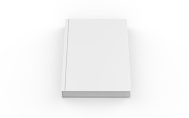 Hardcover book mock-up on isolated white background, 3d illustration