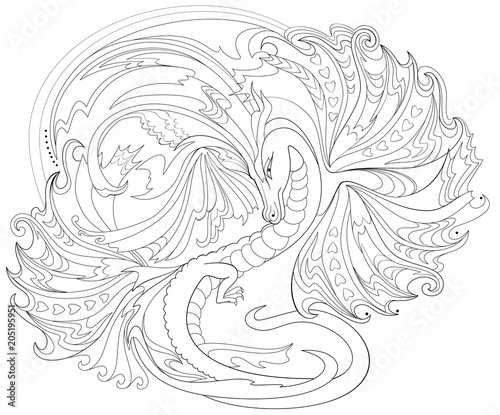 Fantasy Celtic Dragon Art