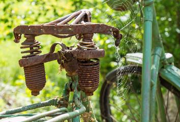 Alter Sattel eines Fahrrads