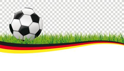 Deutschland Flagge Fußball Transparent