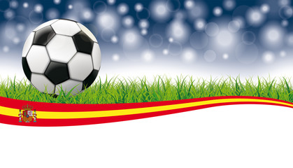 Football Grass Flash Bokeh Header Spain