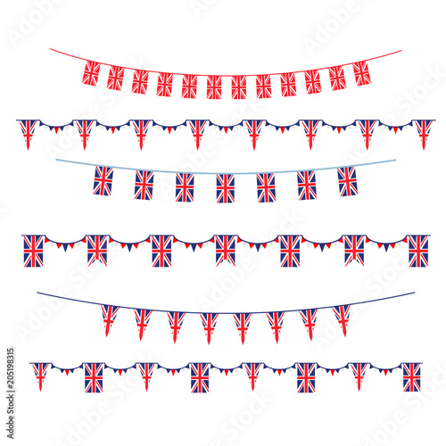 Set Union Jack flag\