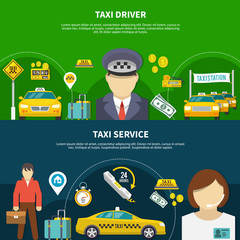 Taxi Service Banners Collection