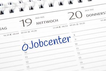 Eintrag im Kalender: Jobcenter