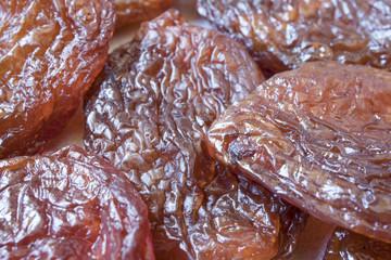 macro plum dried fruits