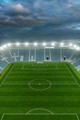 Ansicht Fußball Stadion aus der Höhe mit Himmel