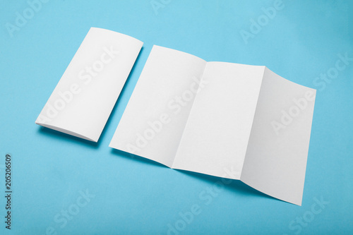 trifold paper menu brochure mockup dl flyer stock photo and