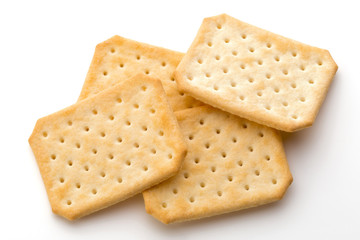 Toast bread isolated on the white background.