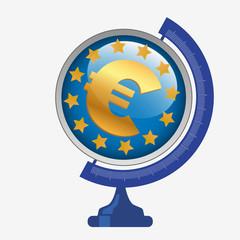 Europe - concept - euro - monnaie - économie - globe - commerce - mondial - puissance - commercial