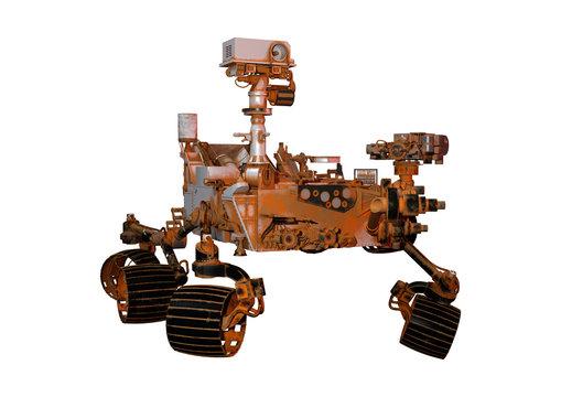 3D Rendering Mars Rover on White