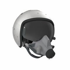 Russian Jet Fighter Pilot Helmet on white. 3D illustration