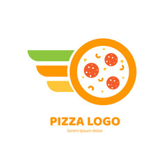 Logo design abstract italian food vector template.