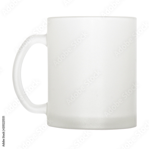 Glass Coffee Tea Mug For Printing With Your Own Design Stock