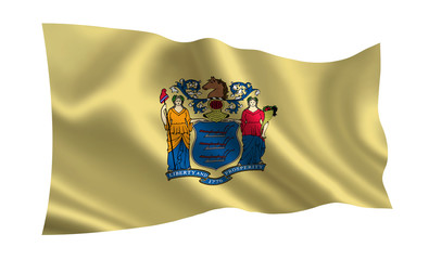 "Flag of the state New Jersey. A series of ""flags of the United States of America"""