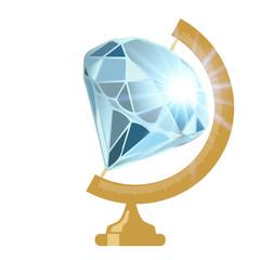 diamant - globe - richesse - riche - bijou - pierre précieuse - concept - monde, millionnaire