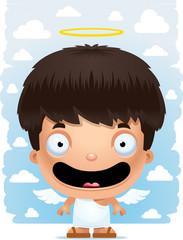 Cartoon Boy Angel Smiling