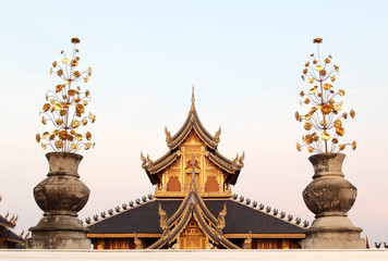 Wat Ban Den beautiful and famous Thai temple, Chiangmai, Northern Thailand.