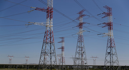 Electric power cables are seen near an Energias de Portugal (EDP) power plant at the outskirts of Carregado