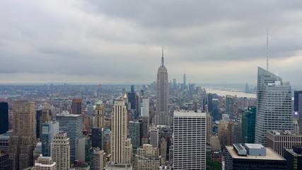 Photo sur Aluminium New York Stadtpanorama von New York, Skyline, Blick auf Hochhäuser