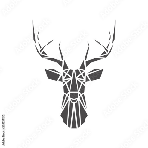 Deer Geometric Lines Silhouette Stock Image And Royalty Free Vector Files On Fotolia
