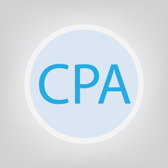 CPA (Certified Public Accountant) concept- vector illustration