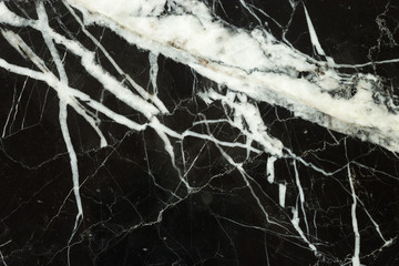 black marble texture and white structure deail