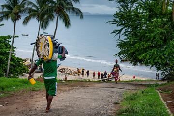 Yongoro, Sierra Leone, West Africa - the beaches of Yongoro.