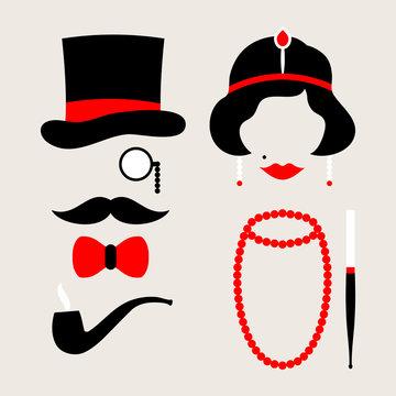 Man & Woman 20s Red/Beige