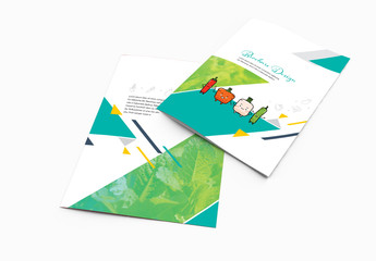 Brochure Layout With Teal Accents