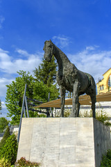 Monument to a horse statue in Larissa