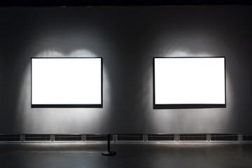 blank frame in gallery