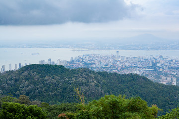 City view from Penang hill