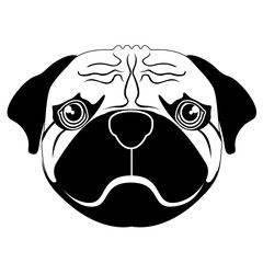 Silhouette of a pug avatar