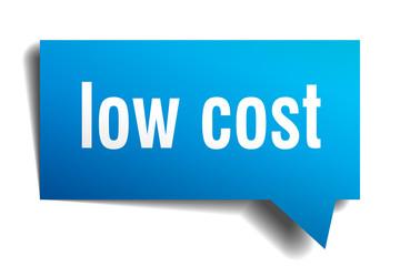 low cost blue 3d speech bubble