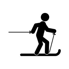 Skier glyph icon