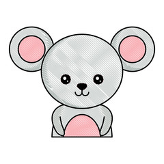 cute mouse icon over white background, colorful design. vector illustration