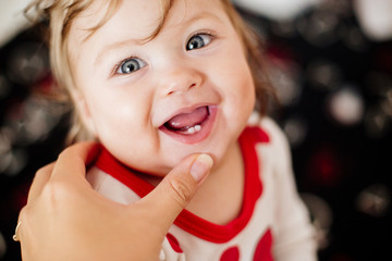 First tooth in a child.