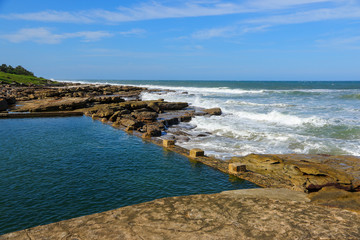 Natural seawater pool in Uvongo, KwaZulu-Natal province of South Africa
