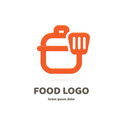 Illustration of business logotype restaurant and cafe.
