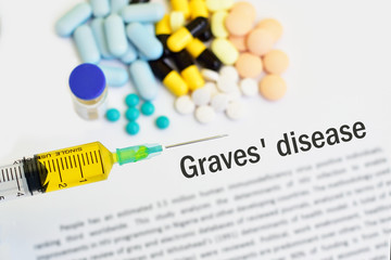 Syringe with drugs for Graves' disease treatment