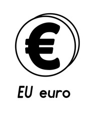 coin with euro sign