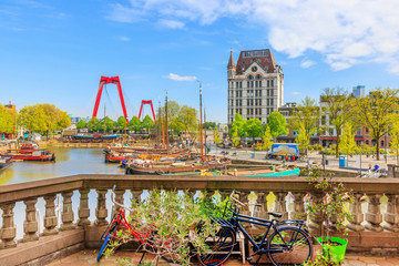 Canvas Prints Rotterdam View of Oude Haven in Rotterdam From A Balcony