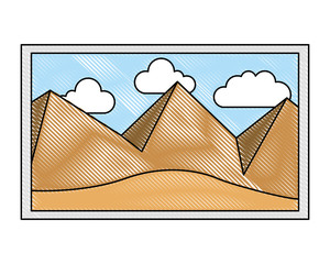 picture art landscape mountains sky decoration vector illustration vector illustration