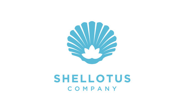 Lotus Flower with shellfish logo design inspiration
